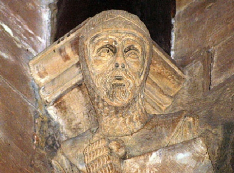 Heads of Templar Knights at St. Mary's Church, Tempe Balsall