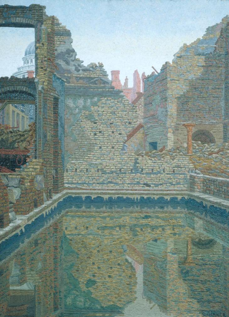 Emergency Water Storage Tank 1942 by Charles Ginner 1878-1952